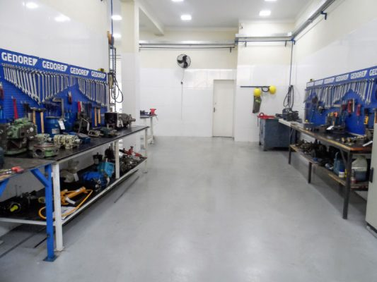 Área de oficina mecânica